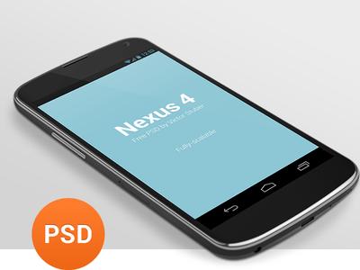 Free Nexus 4 PSD