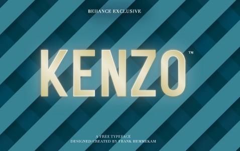 Kenzo (Free typeface)