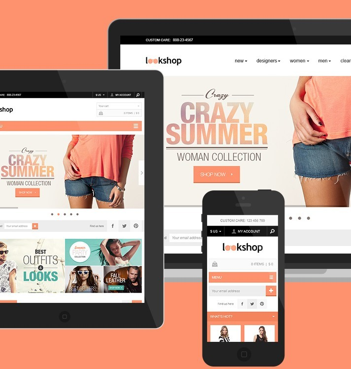LookShop - Free Responsive PSD Template