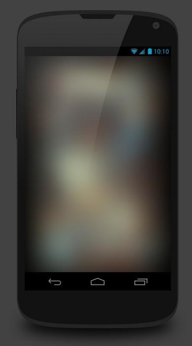 Nexus 4 Flat PSD