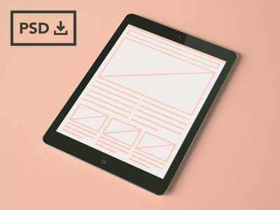 iPad Air Mockup Template PSD