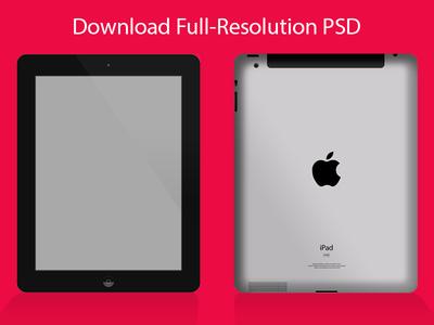 iPad Mockup PSD - Black