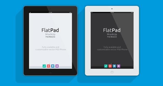 iPad Psd Flat Mockup