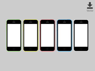 iPhone 5c Vector Download Vector