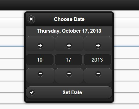 jQuery Date and Time Picker Plugin for jQuery Mobile