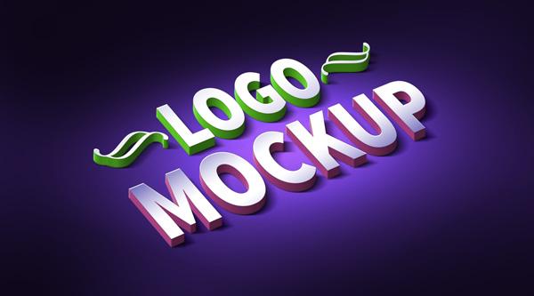 3D Logo & Text Effect Mockup (PSD)