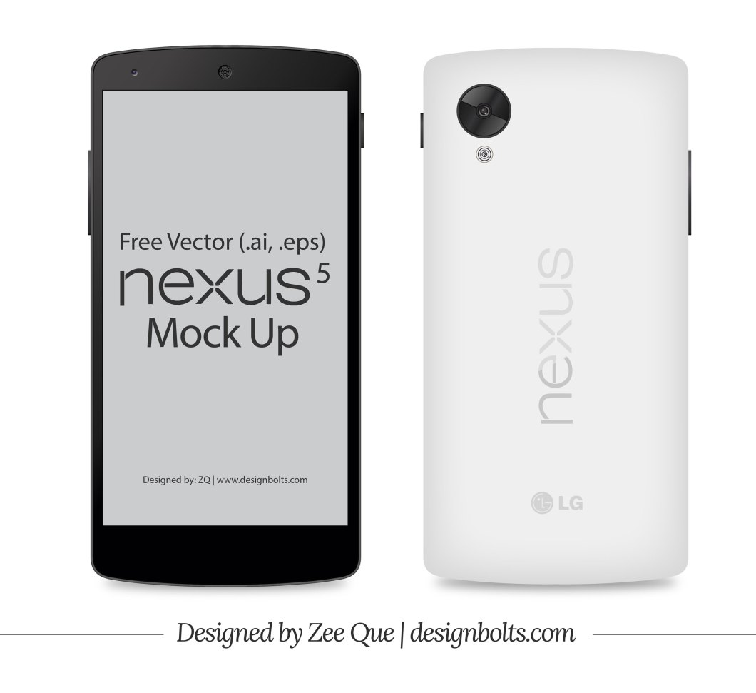 Collection Of Google Nexus 5 Mockup Templates