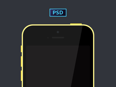 Freebie a Simple iPhone 5c (PSD)