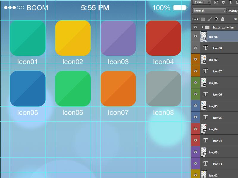 Icon iOS7 tool grid