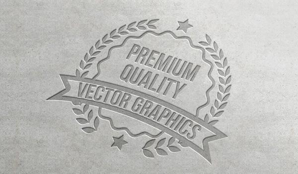 Letterpress Logo Mockup (PSD)