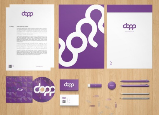 Stationery Branding Mock-Up PSD Free