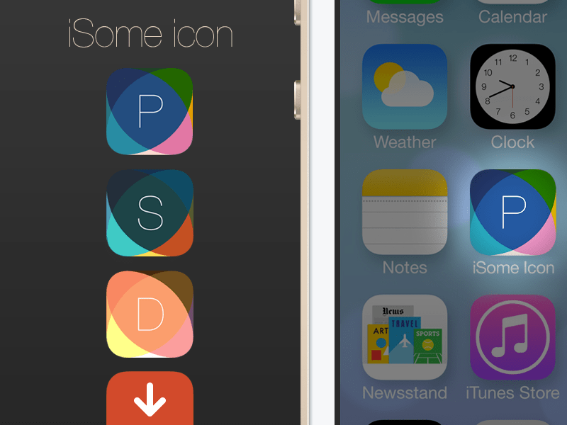 iSome iOS 7 App Icon Template