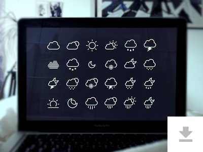 24 Weather Icons - Freebie