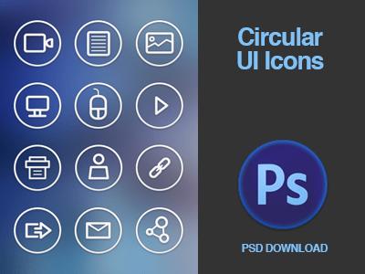 Circular UI Icon Set