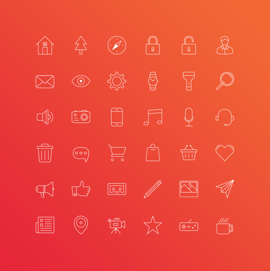 FREE iOS 7 Outline Icons