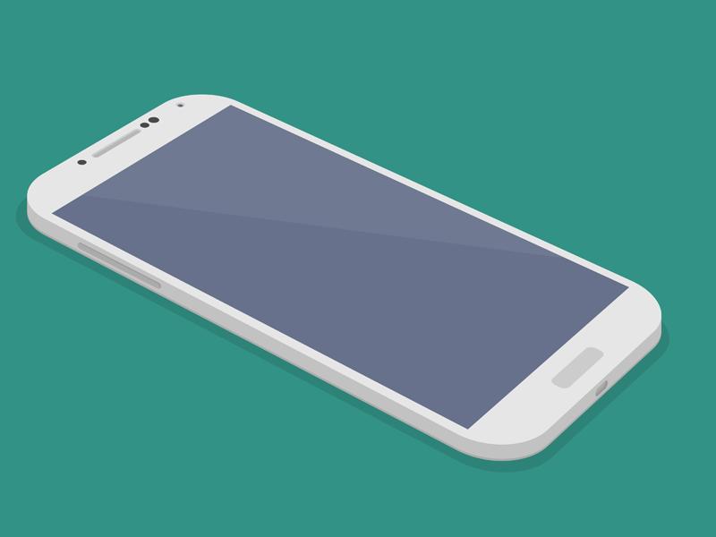 Flat Galaxy S4 3D