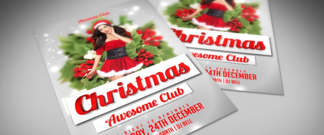 Free Christmas PSD Flyer Template