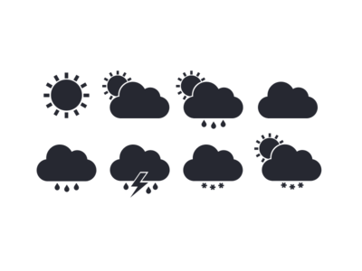 Free flat weather icons