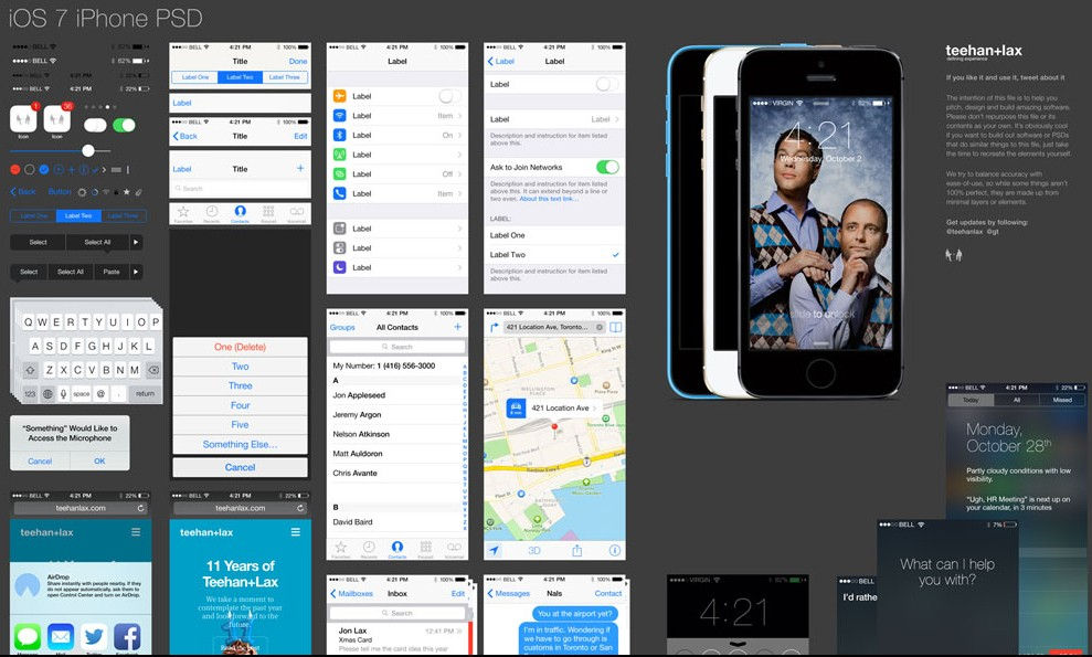 iOS7 GUI PSD (iPhone)