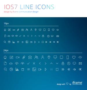 iOS7 Line Icons