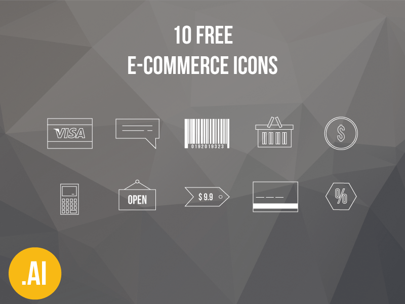 10 Free E-Commerce Icons