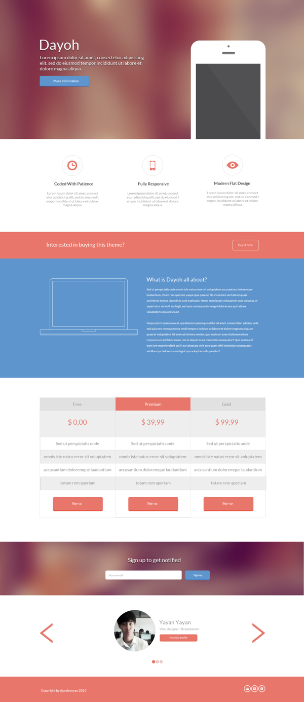 Dating site landing page template free download