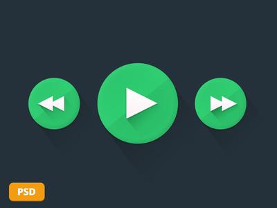 Flat Circle Buttons