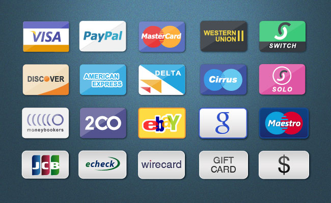 Top 10 Payment Method & Credit Card Icon Set For E-commerce Website