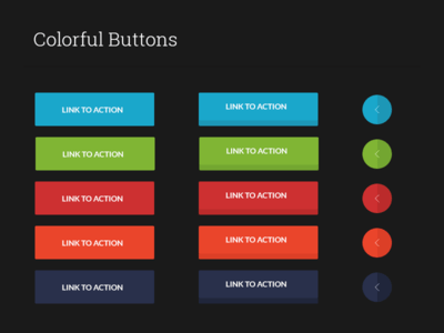 colorful buttons ui kit