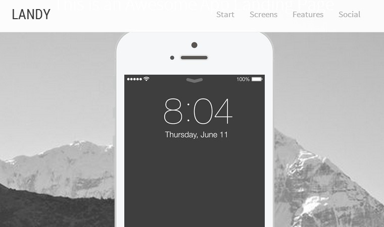 A Responsive One Page HTML5 Template - Landy