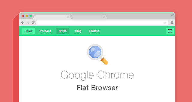 Flat Psd Browsers Set