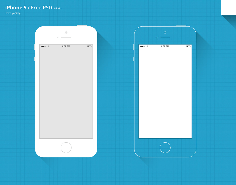 Free PSD iPhone 5