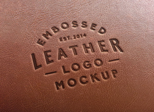 Leather Stamping Logo MockUp 2