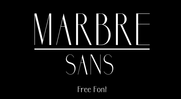 Marbre Sans (Free Font)