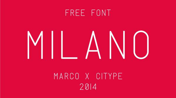 Milano Free Font