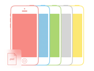 Simple iPhone 5C (+ 5S) Mockups