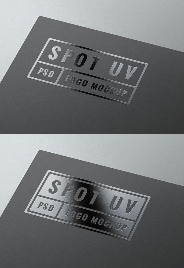Spot UV Logo MockUp