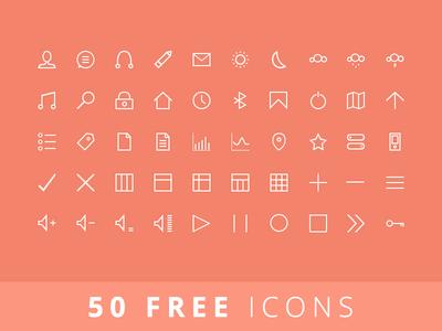 50 FREE Icons