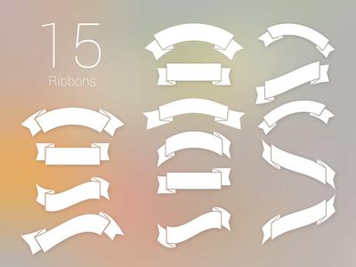 Free 15 Ribbons PSD