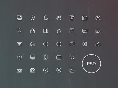 Line Icons Set Vol.1