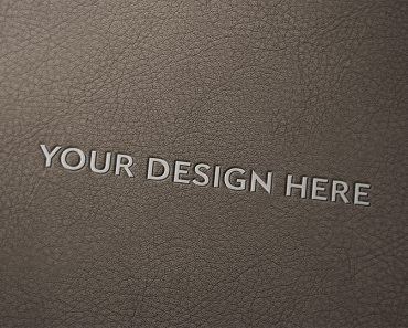 Logo Mock up with Leather Background PSD