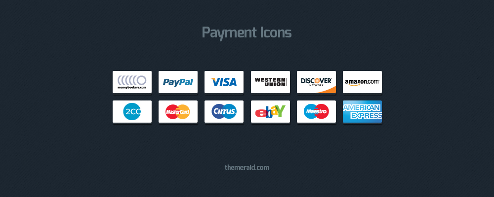 Online Payment Icons — Vector & Psd