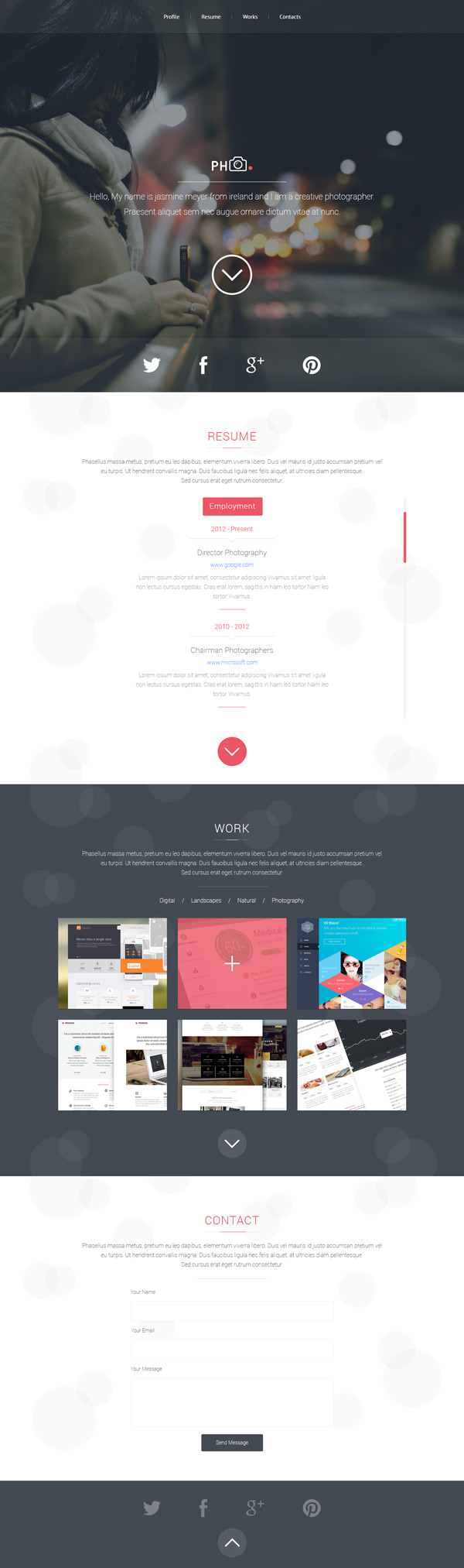 PH CV – PSD Template