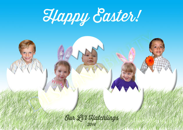 Free Easter Hatchling PSD Template