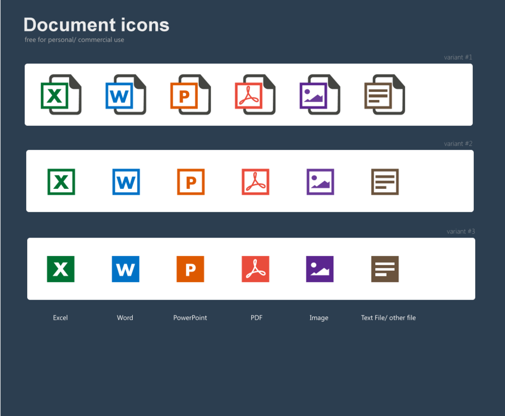 Free document icons