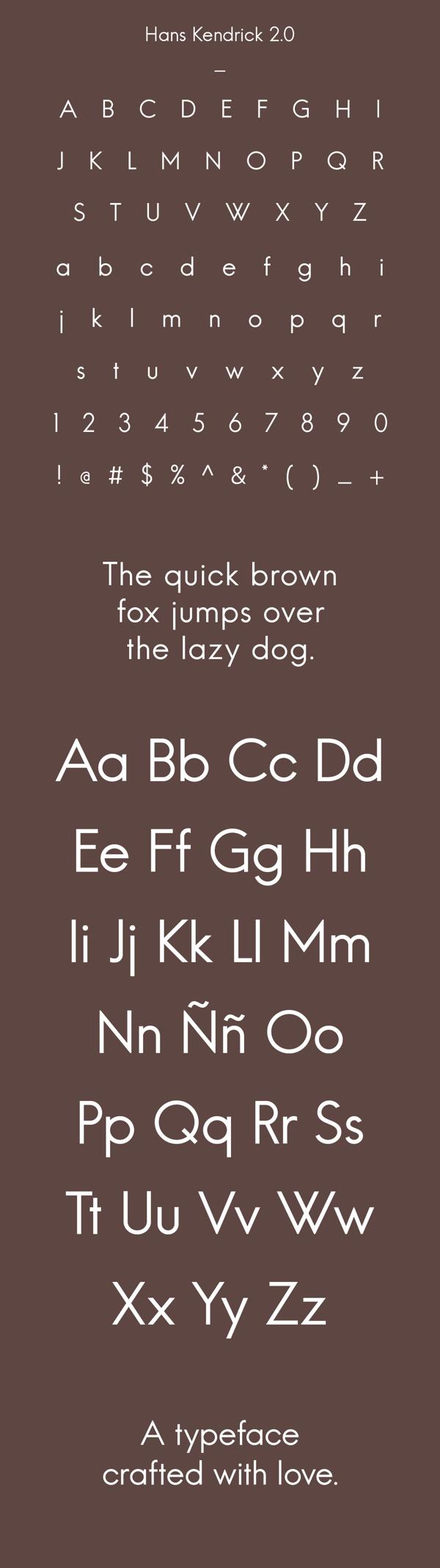 Hans Kendrick Free Typeface V2.0