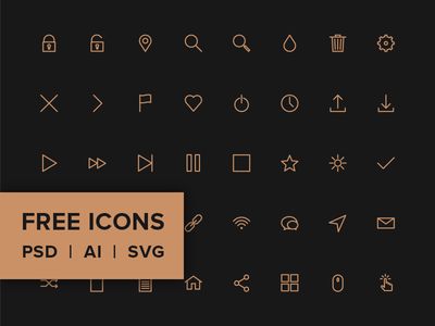 Icon Pack - PSD, AI, SVG & FONT For Free