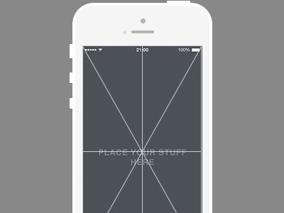 Iphone free psd grid