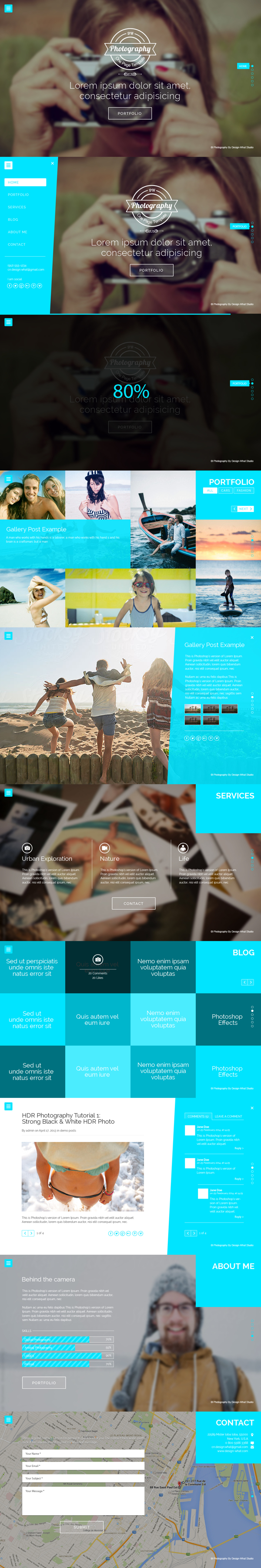 One Page PSD Template - Photograhpy