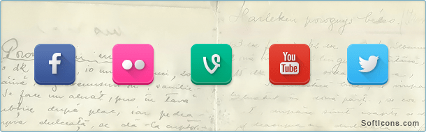 Rounded Square Social Icons
